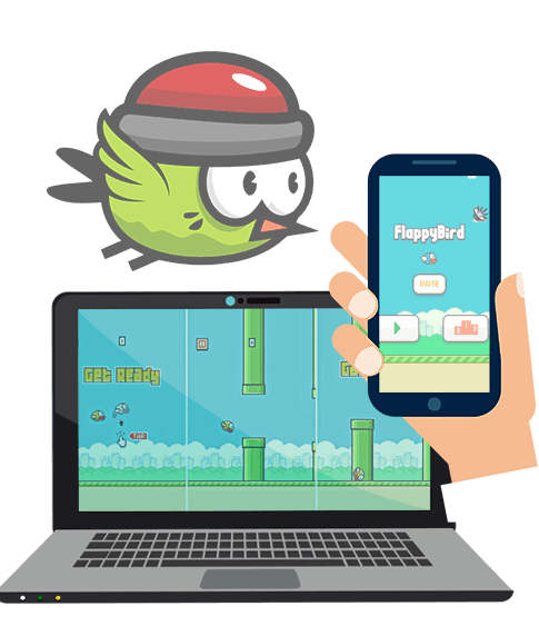create a flappy bird game