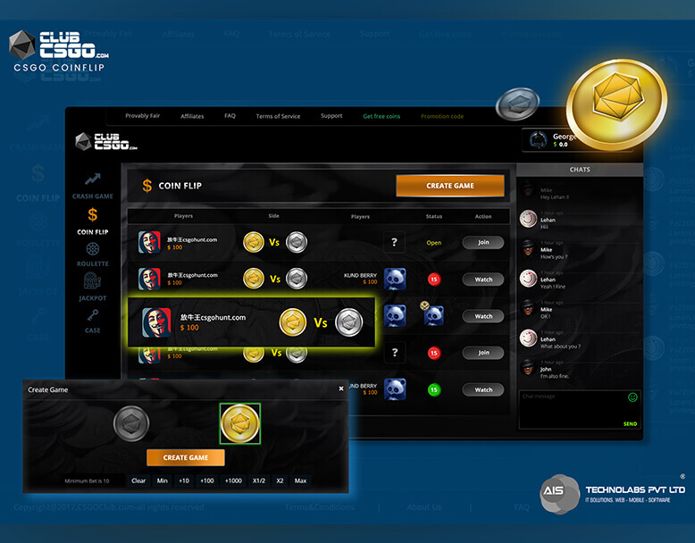 Csgo betting sites coin flip app is there sports betting at the downs